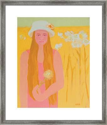 Flower Child Framed Print by Renee Kahn