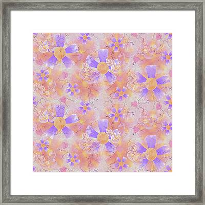 Flower Clown Pattern Framed Print