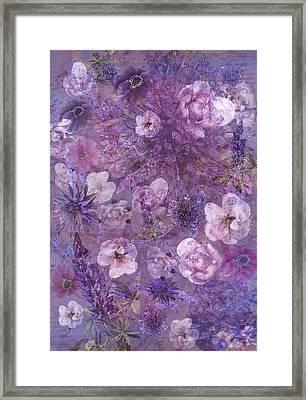 Flower Collage Framed Print