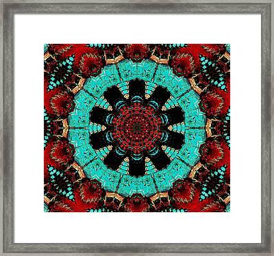 Flower Concho Framed Print