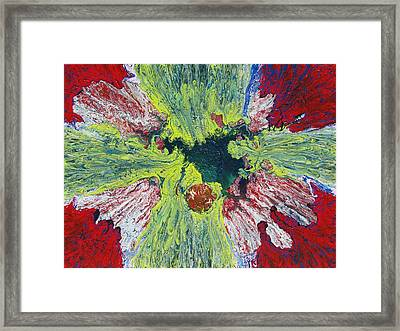 Flower Cross Framed Print