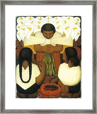 Flower Day Framed Print by Diego Rivera