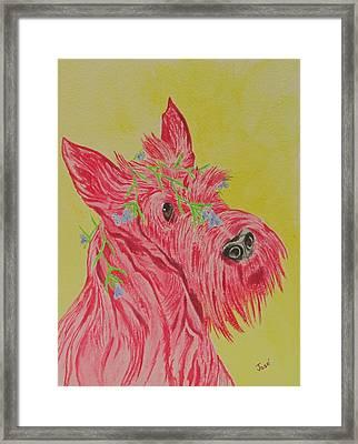 Flower Dog 6 Framed Print by Hilda and Jose Garrancho