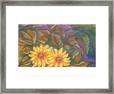 Flower Doodle Framed Print by Candice DeKay