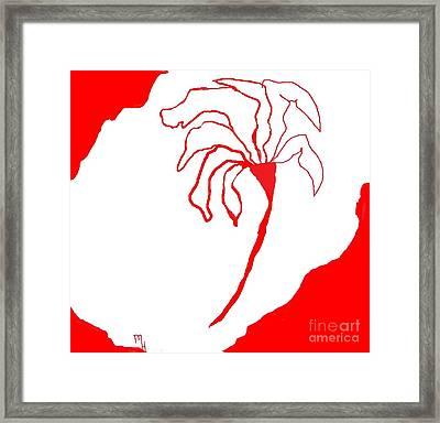 Flower Drawing Framed Print by Marsha Heiken