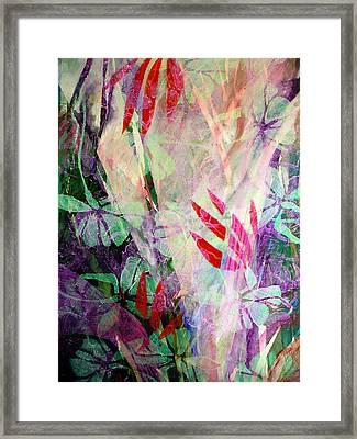 Flower Eruption Framed Print by Sue Reed