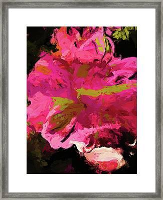 Flower Euphoria Magenta Pink Framed Print
