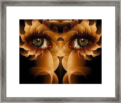 Flower Face Framed Print