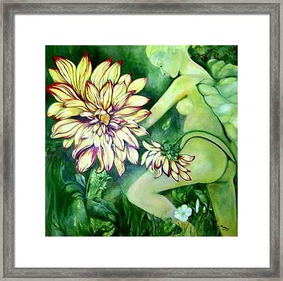 Flower Faery Framed Print