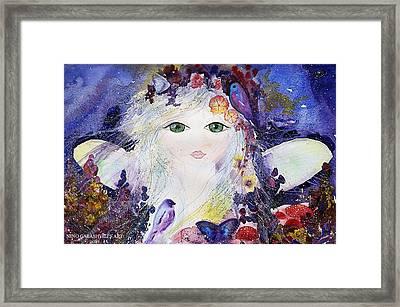 Flower Fairy Framed Print by Nino Gabashvili