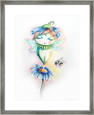 Flower Fairy Framed Print by Willow Heath