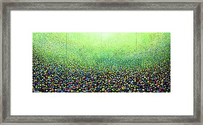 Flower Field Riot Framed Print by Geoff Greene