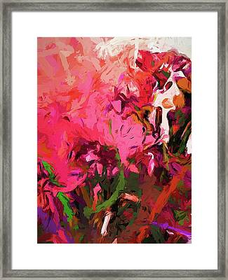 Flower Flames Soul Pink Framed Print