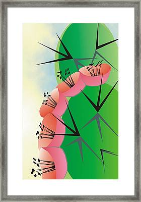 Flower Flower Framed Print by Ted Clifton
