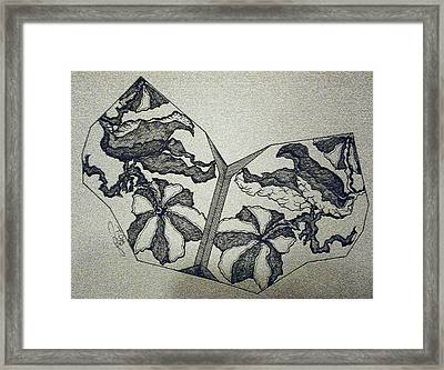 Flower Fossil Framed Print by Tammera Malicki-Wong