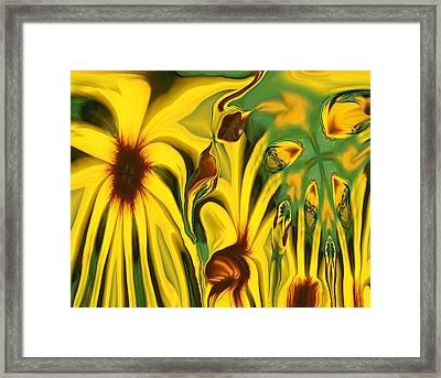 Flower Fun Framed Print by Linda Sannuti