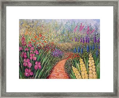 Flower Gar02den  Framed Print
