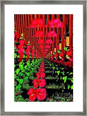 Framed Print featuring the digital art Flower Garden Abstract by Marsha Heiken
