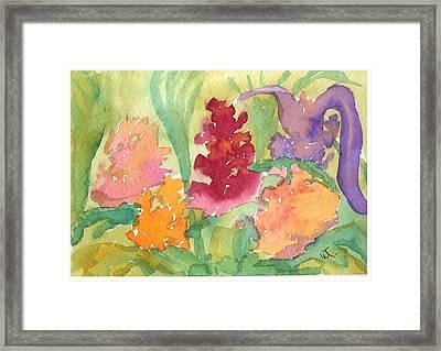 Flower Garden Abstract Framed Print by Warren Thompson