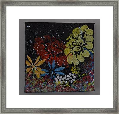 Flower Garden Framed Print by Martin Schmidt