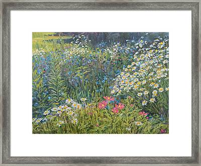 Framed Print featuring the painting Bountiful Blooms by Steve Spencer