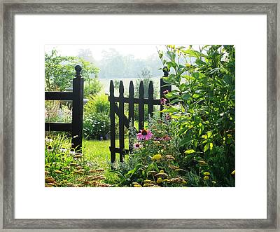 Flower Gate Framed Print by Joyce Kimble Smith