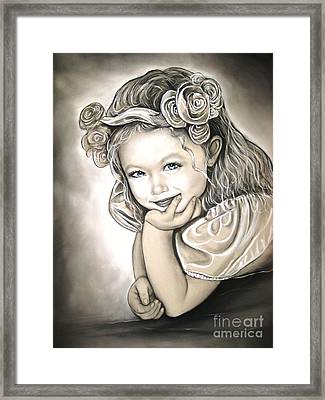 Flower Girl Framed Print by Anastasis  Anastasi