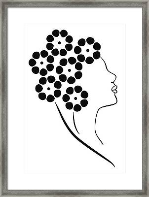 Flower Girl Framed Print by Frank Tschakert