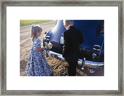 Flower Girl Framed Print by Jose Roldan Rendon