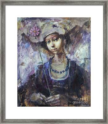 Flower Girl Framed Print by Michal Kwarciak