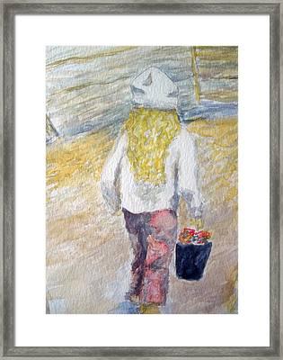 Flower Girl Framed Print by Mike Segura