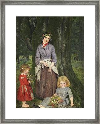Flower Girl  Framed Print by William Gale