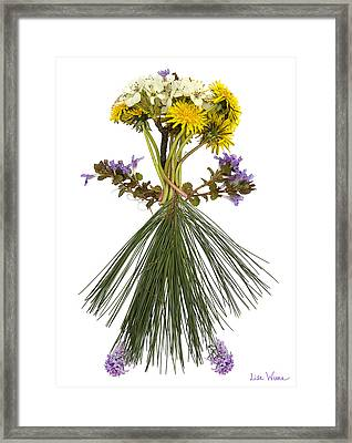 Flower Head Framed Print