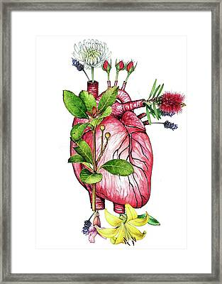 Flower Heart Framed Print