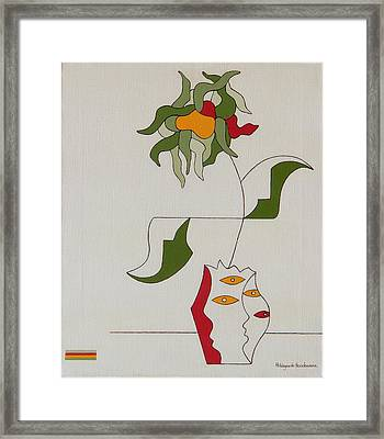 Flower Framed Print by Hildegarde Handsaeme