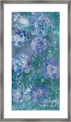 Flower In Blue Framed Print