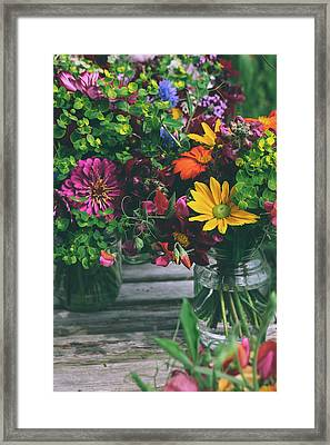 Flower Jars Framed Print