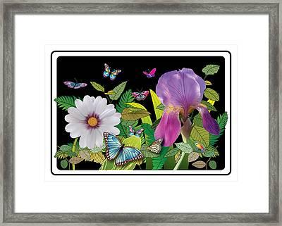 Flower Jungle Framed Print