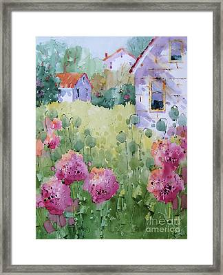 Flower Lady's Poppies Framed Print