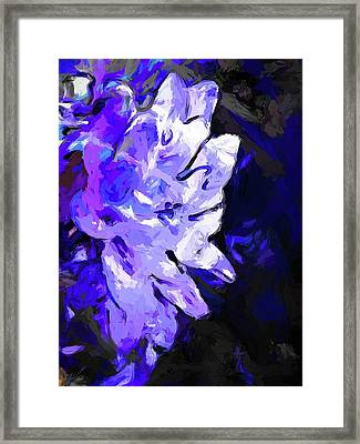 Flower Lavender Lilac Blue Framed Print