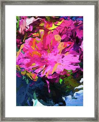 Flower Lolly Pink Yellow Framed Print