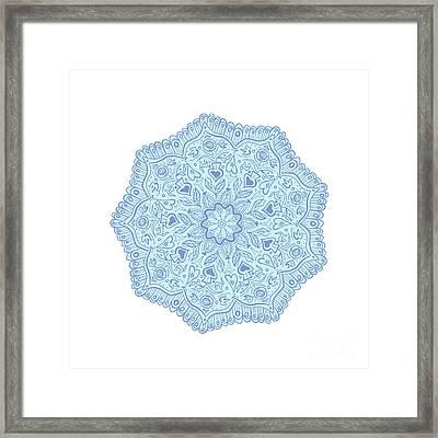Flower Mandala Framed Print