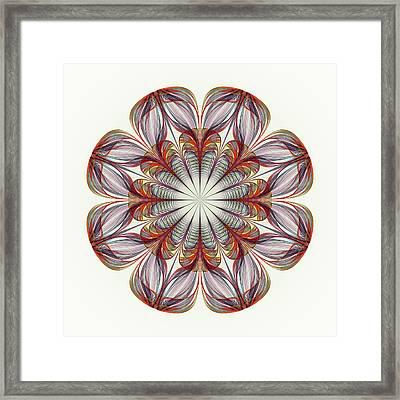 Flower Mandala Framed Print by Anastasiya Malakhova