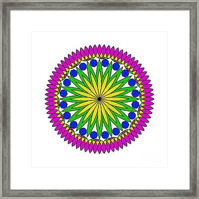 Flower Mandala By Kaye Menner Framed Print