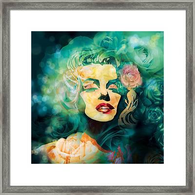 Flower Marilyn Framed Print by Irina Effa