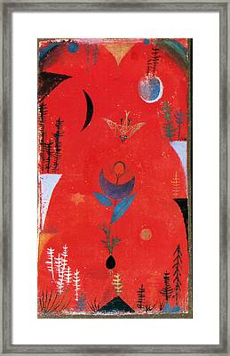 Flower Myth Framed Print by Paul Klee