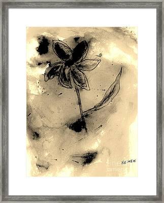 Flower Negative Framed Print by Marsha Heiken