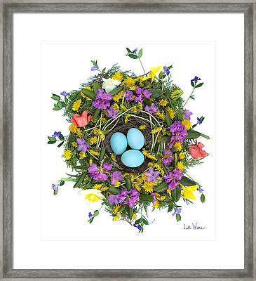 Flower Nest Framed Print by Lise Winne