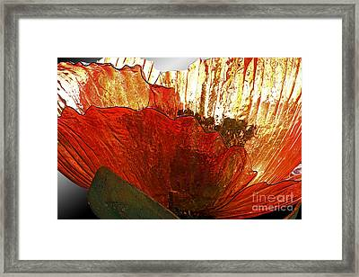 Flower Of Glass Framed Print