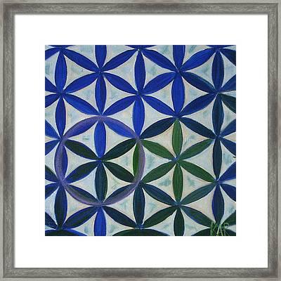 Flower Of Life Pattern Framed Print by Art by Kar